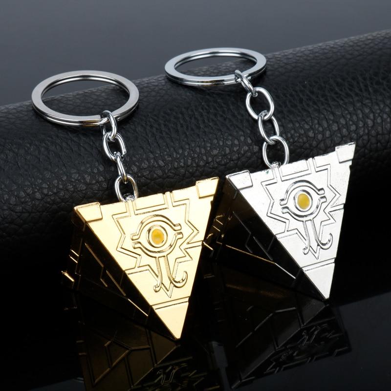 women Men Accessories Keyrings Game Anime Yugioh Millenium Duel Monsters Pendant Egyptian 3D Yu-Gi-Oh Keychains key chain