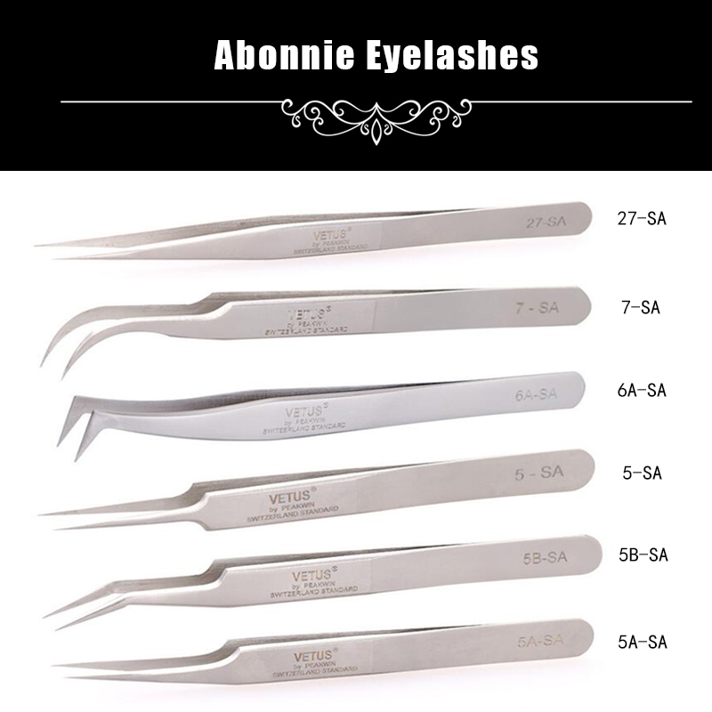 Abonnie Lashes stainless for sale eyebrow tools professional eyelash extensions flat tip ...