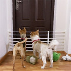Pet Dog Fence Baby Gate Playpen for Dogs Indoor Retractable Pet Isolating Gate Room Plastic Kids Baby Safety Protection Tools