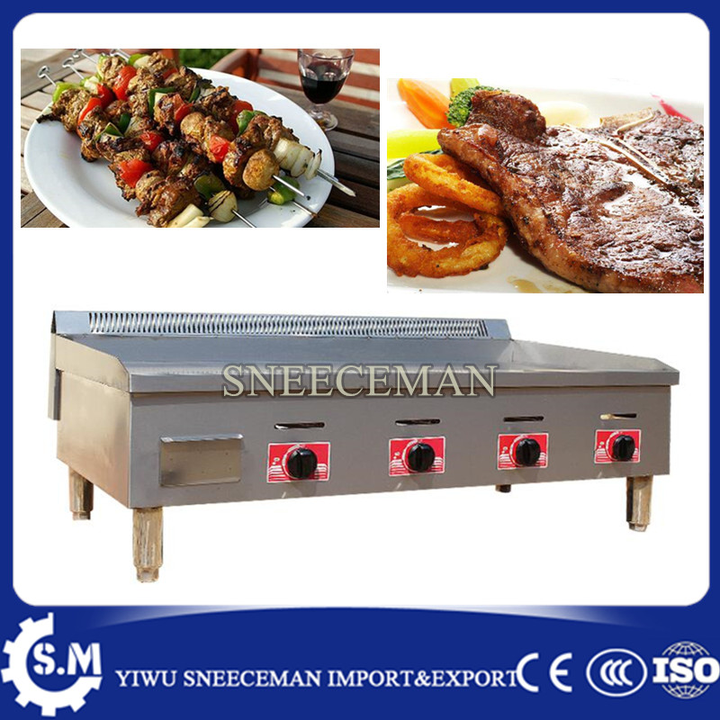 все цены на Commercial Kitchen Equipment Stainless Steel Flat Plate Gas Grill Griddle for Sale teppanyaki griddle machine онлайн
