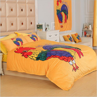 Fashion big cock cotton bedding cotton brushed printing four piece custom personalized fashion set of 4 sheets