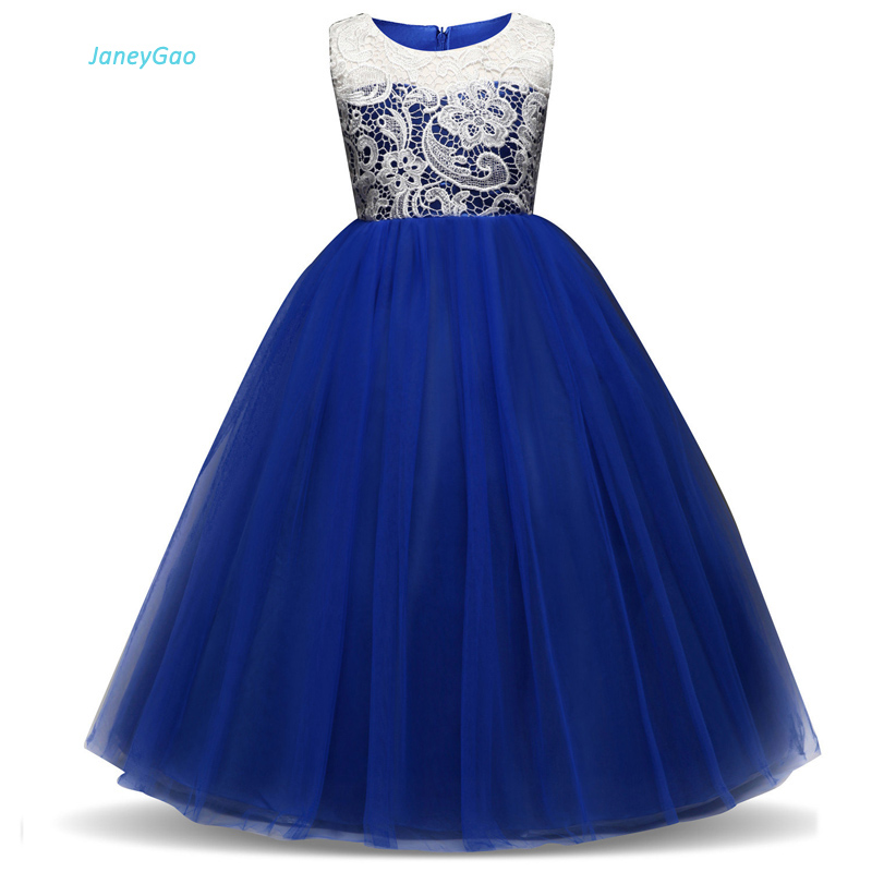 JaneyGao   Flower     Girl     Dresses   For Wedding Party Pageant   Dresses   Kids First Communion   Dresses   With Button Princess Tulle Hot Sale