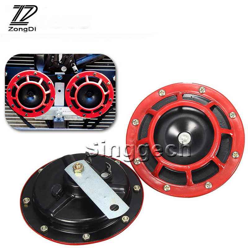 ZD 2X Car styling For Volvo S60 V70 XC90 XC60 Subaru Forester Peugeot 307 206 308 407 Air Red Horn alarm loudspeaker Blast Tone zd 2x car styling for kia rio 3 ceed toyota corolla 2008 avensis c hr rav4 mazda 3 6 air red horn alarm loudspeaker blast tone