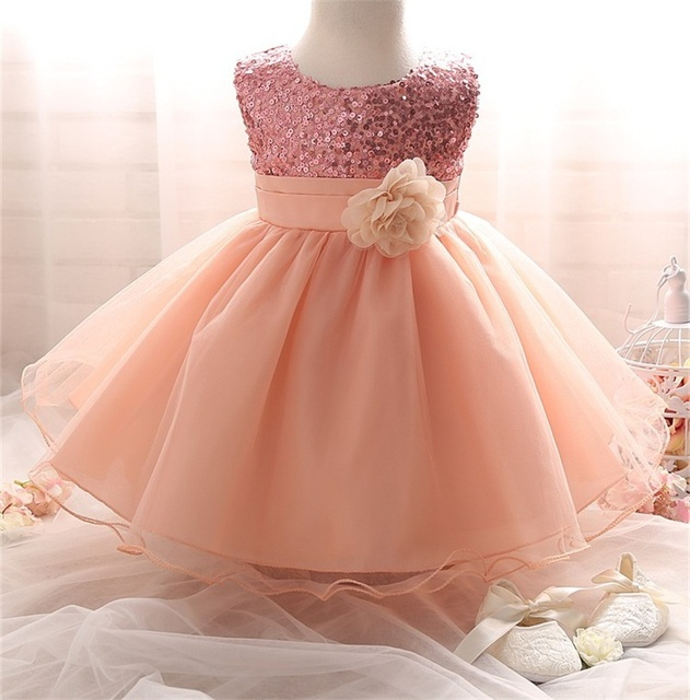 e7eb4872b4 US $12.2  Flower Girl Dress Summer Little Girl Clothes Sparkle Sequins Tutu  First Birthday Party Outfit Kids Dresses For Girls Clothing-in Dresses ...