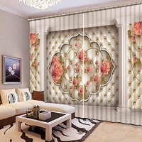 High Quality 3D Printing Curtains Chinese Luxury 3D Window Curtains Bedroom Living Room Printing Curtains CL 095