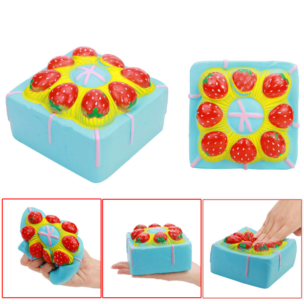 Strawberry Cake Toy Squishy Super Jumbo Scented Slow Rising Rare Fun Toy Cake Ship Decoration Nice Gift Stress Reliever