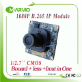 New 2MP Full HD 1080P H.265/H.264 perfect night vision CCTV IP Network camera Board Module p2p 3516D, Onvif Lens + Ircut + Cable