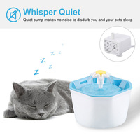 Interesting Hot Pet Dogs Drinking Water Fountain Automatic Water Dispenser Filter for Cat Dog @LS MA20