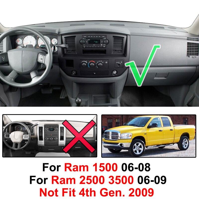 Dodge Ram 2500 Pick-Up 2006-2009 Gray Carpet Dash Cover Dash Board Mat Pad DO66