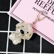 цена на New 2019 Fashion Dog Car Key Chain Animal Couple Lovely Keychain Car Keyring Gift For Girl Women Men Jewelry Key Rings