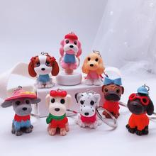 2019 Fashion Dog Car Keychain Animal Couple Lovely Keyring Gift For Girl Women And Men Jewelry anime keychain