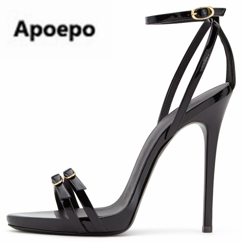 Selling black summer women shoes buckle decor high heels sandals females sexy pumps zapatos mujer tacon size 45 office sandalsSelling black summer women shoes buckle decor high heels sandals females sexy pumps zapatos mujer tacon size 45 office sandals