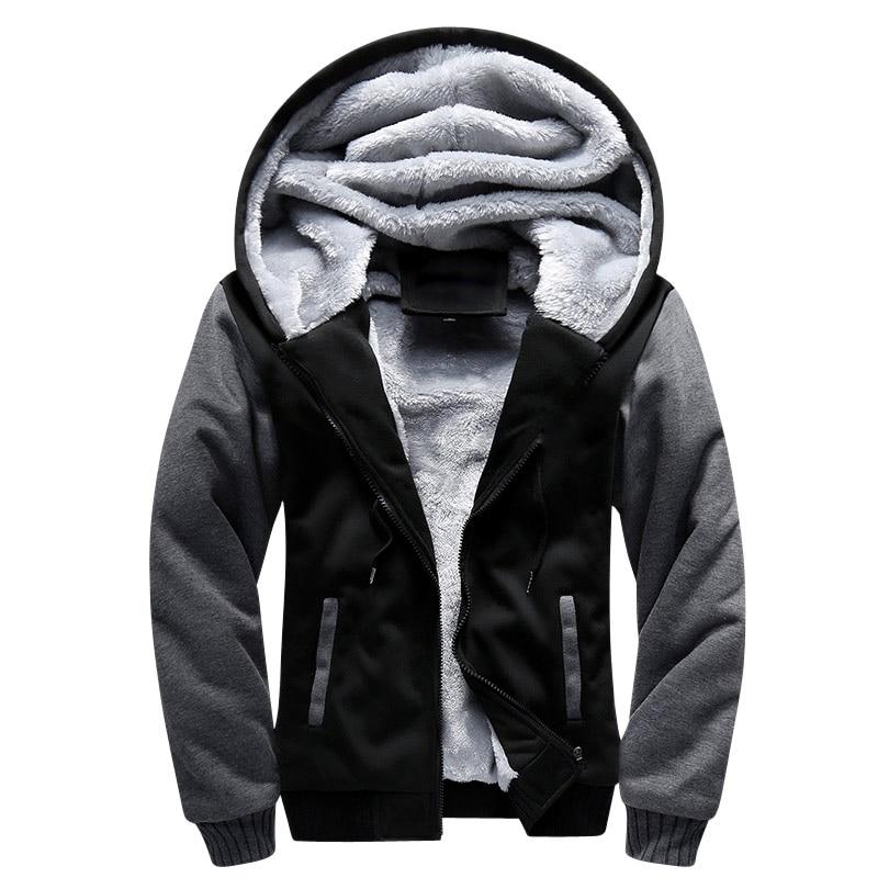 USA SIZE 2017 Men Winter Autumn Blank Pattern European Fashion Bomber Mens Vintage Thick Fleece Jacket