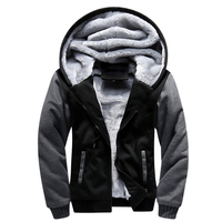 USA SIZE 2017 Men Winter Autumn Blank Pattern European Fashion Bomber Mens Vintage Thick Fleece Jacket