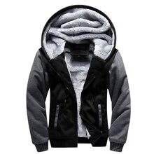 Men Winter European Fashion Bomber Vintage Thick Fleece Jacket
