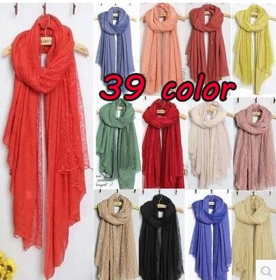 2014 new women fashion printe floral lace high quality viscose plain shawls long wrap hijab muslim scarves/scarf 10pcs/lot