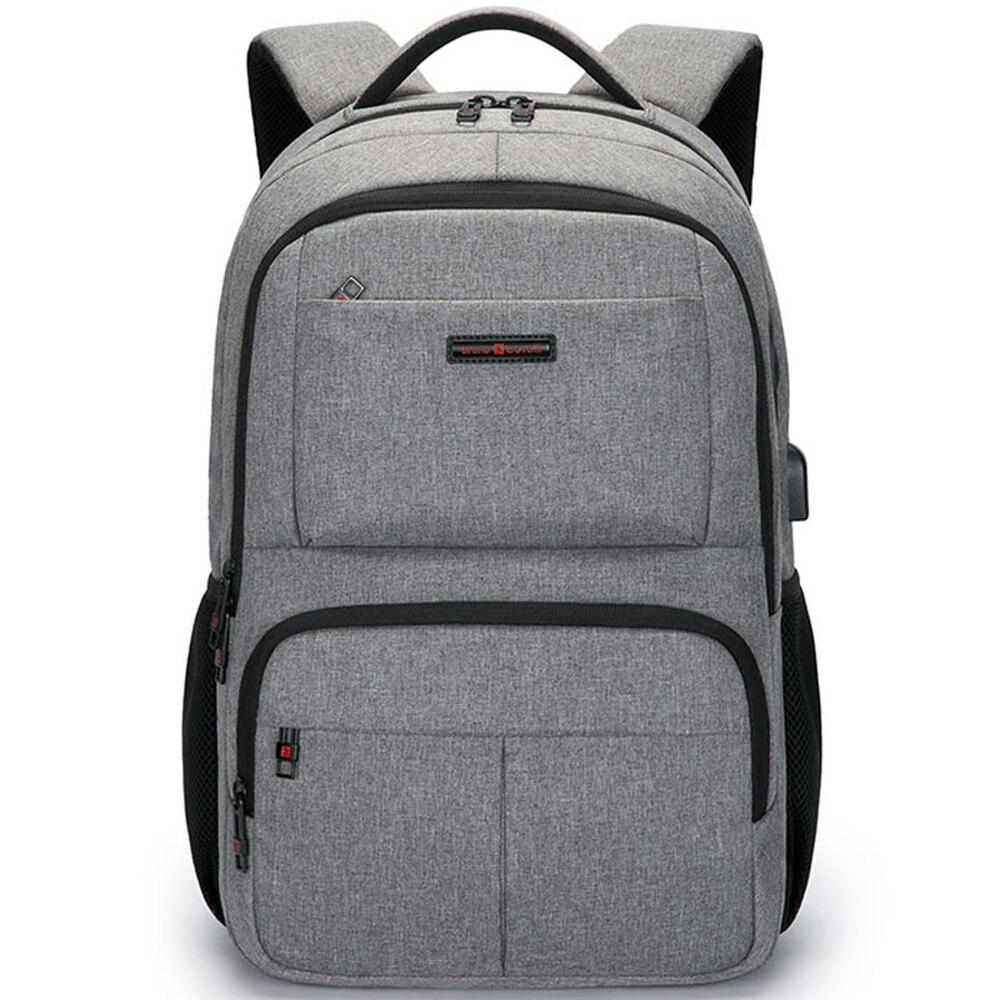 Multifonction USB charge hommes 18 pouces sacs à dos d'ordinateur portable pour adolescent mode mâle Mochila voyage sac à dos anti-voleur - 2