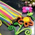 100 шт./компл. монтессори шениль стебли красочные палочки детские игрушки детский сад DIY ручной работы материал творческие дети развивающие игрушки