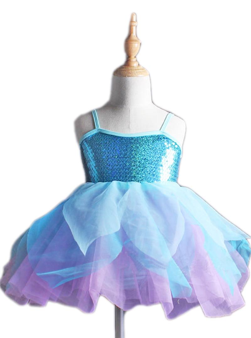 Enfants filles Costumes gymnastique danse robe enfants fille Ballet professionnel Tutu jupe Dancewear justaucorps Skate tenues
