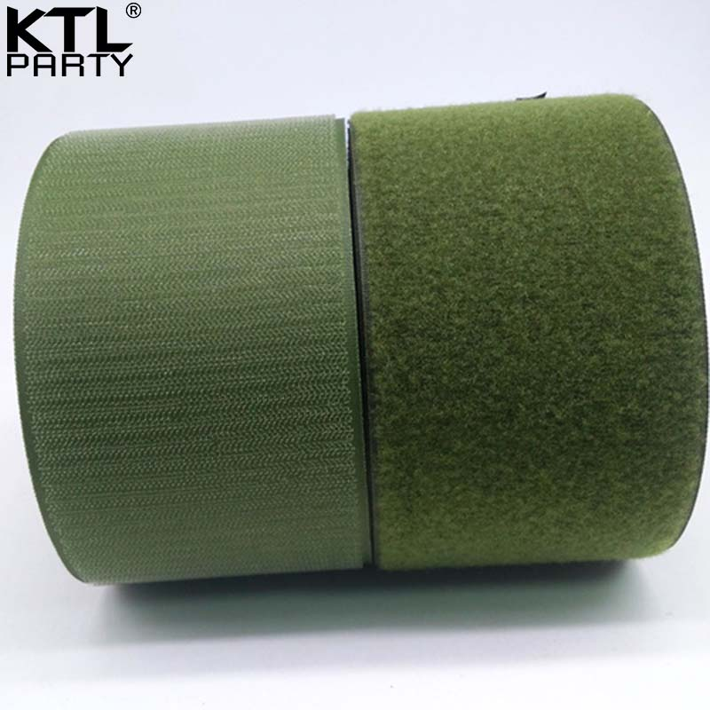25meters 10cm olive nylon velcros fastener tape no adhesive sewing magic loop hook sticker strip clothing