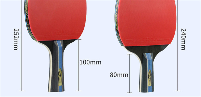 Huieson 7 Ply Pure Wood Table Tennis Racket Double Face Pimples-in Sticky RubberPong Paddle Bat for New Learners (3)
