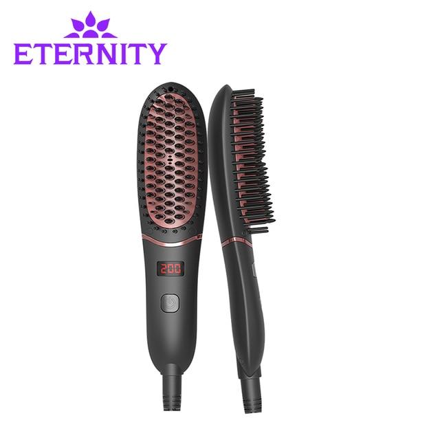 מהיר חם קומבס חשמלי מהיר שיער מחליק מסרק ברזל מקצועי שיער סטיילינג כלי