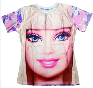 P Lstar Cosmos Men/Women Skull/Barbie Girl/Alice Princess Print 3d T Shirt Unisex Tees Harajuku T Shirt Size S 5 Xl Drop Shipping by P Lstar Cosmos