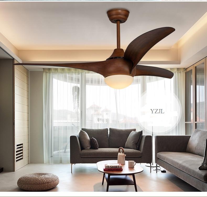 Western Style Ceiling Light Fixtures: 52inch Ceiling Fan Light Living Room Bedroom Fan Lamp