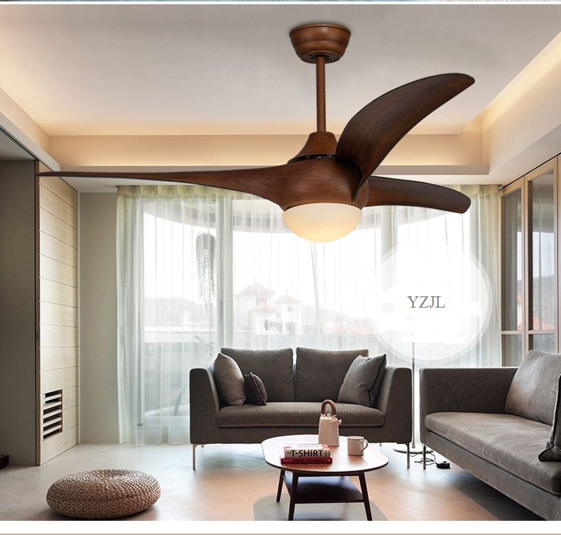 52inch Ceiling Fan Light Living Room Bedroom Fan Lamp Ceiling Remote Control Retro Western Style