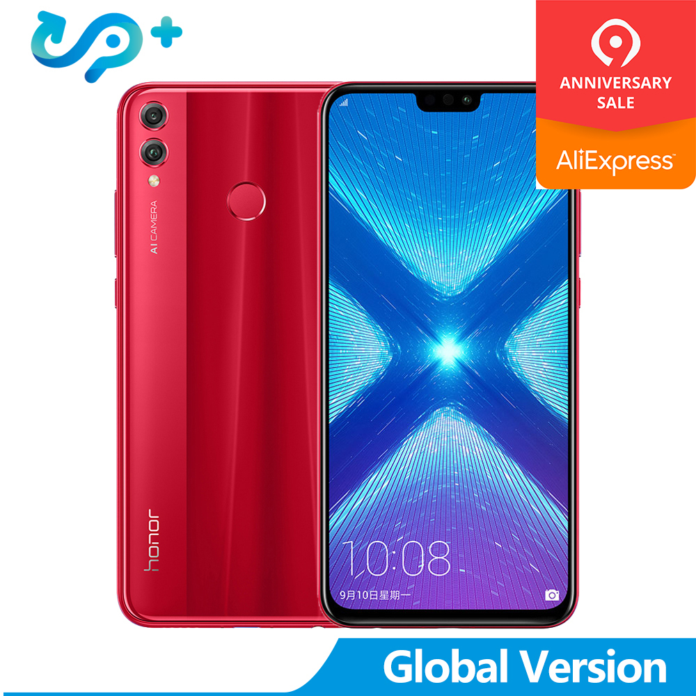 Original Honor 8X Global Version Mobile Phone honor8X 6.5 inch OTA Update LTE Android 8.1 Octa Dual Back 20MP Camera