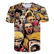 Mens Woman Fashion 3D t-shirts Prints Funny Pattern Clown Tshirt Harajuku tshirt Short Sleeve t-shirt Summer Round Collar