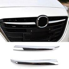 Для Mazda 3 Axela BM Хромированная передняя решетка радиатора Решетка Гриль Крышка отделка вставка литье Garnish Guard автомобильный Стайлинг