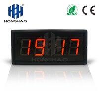 Honghao LED Countdown Electronic GPS Clock unisex Mental Modern Wall Clock