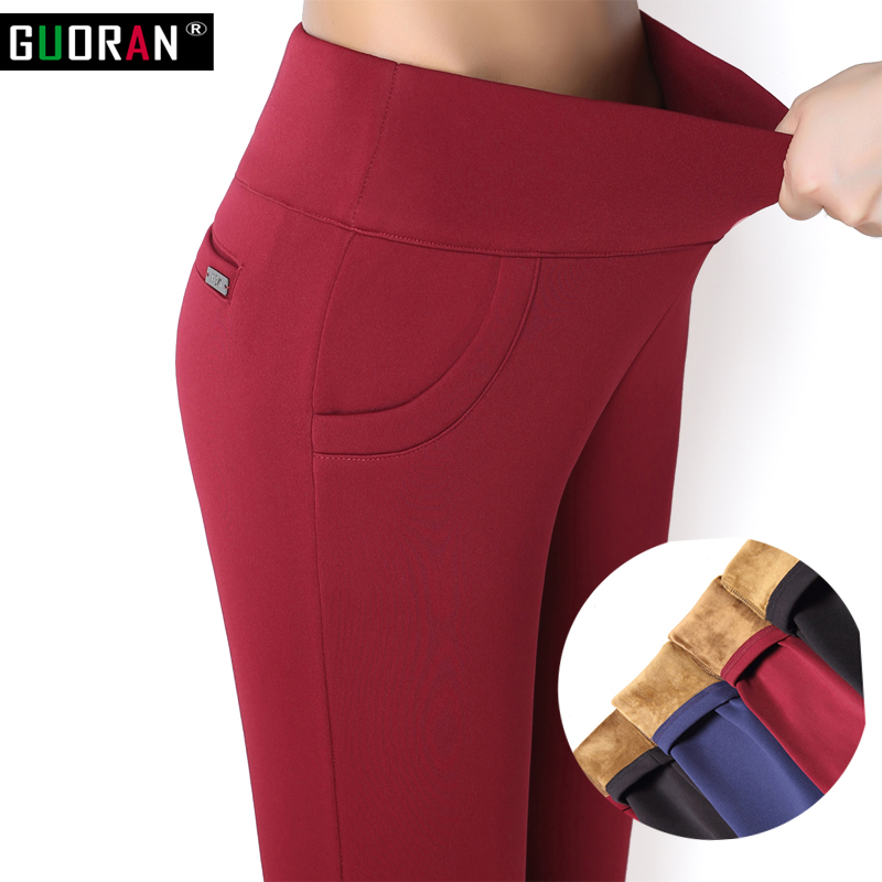 New Autumn Winter Plus Thick Velvet Warm Leggings Elastic High Waist Pants Big Yards Slim Women's  Casual Pants Female Trousers