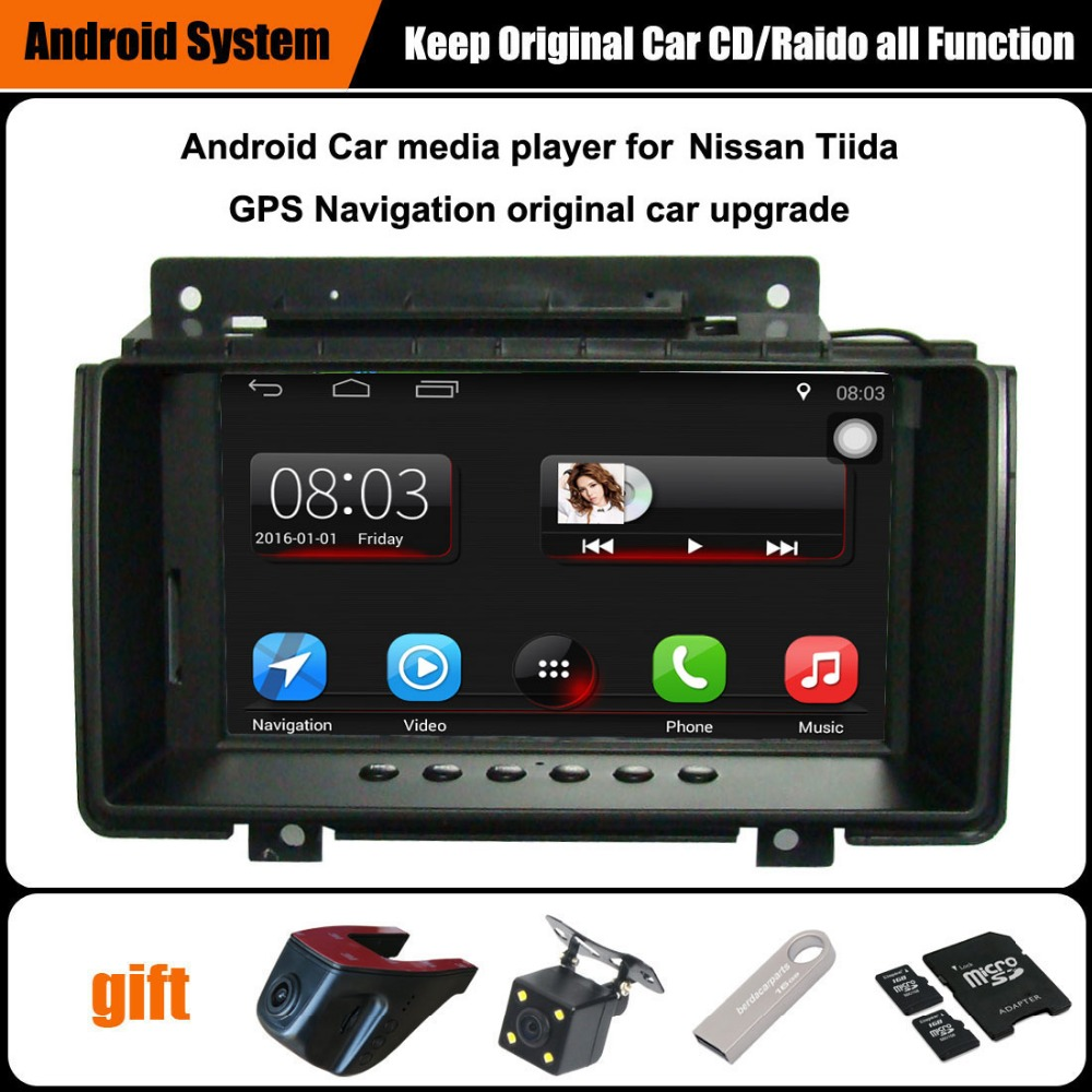 7 inch Android 7.1 Car GPS Navigation for Nissan Tiida Car Video Player WiFi Bluetooth Mirror link Upgraded Original Car Radio