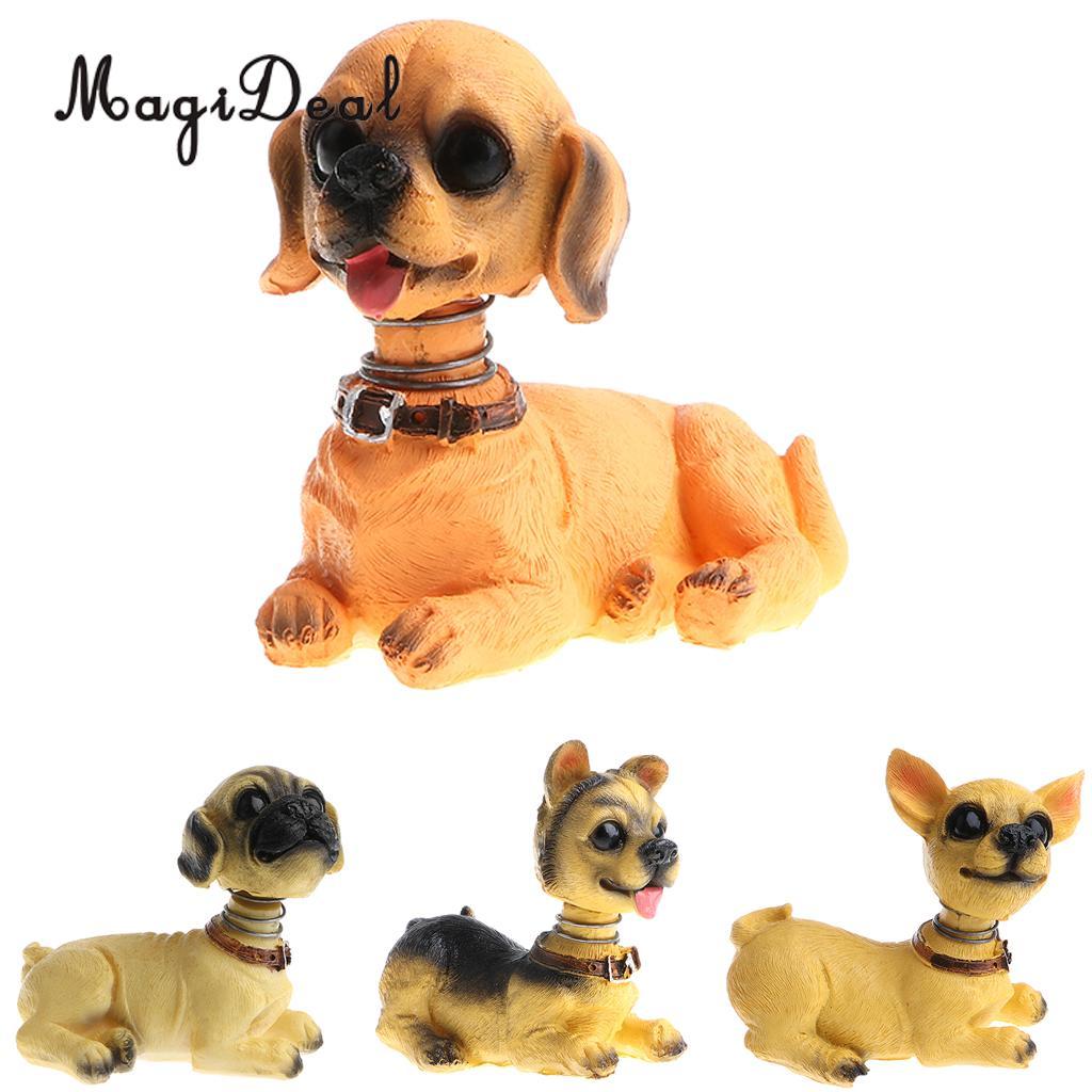 Cute Shaking Head Lucky Dog Puppy Pug Bobbing Heads Bobblehead Toy Aniaml Pet Figures Car Dashboard Auto Decoration