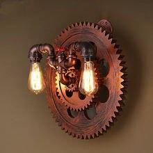 Промышленные деревянные колеса e27 настенный светильник чердак