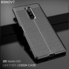 For Sony Xperia XZ4 Case Litchi TPU Rugged Leather Anti-knock Phone Cover 1 BSNOVT