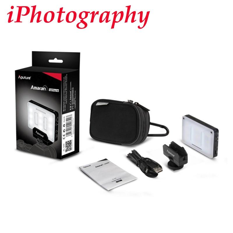 Aputure Amaran al-m9 освещая карман Размер светодио дный CRI/tlci 95 + 9 SMD лампы 9 шагов с регулировкой яркости 5500k для камер Sony Canon Nikon и т. д.