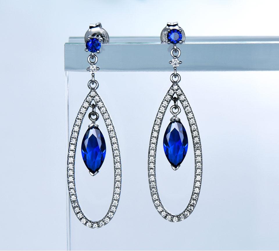 Honyy-925 sterling silver earrings for women EUJ064S-1 (2)