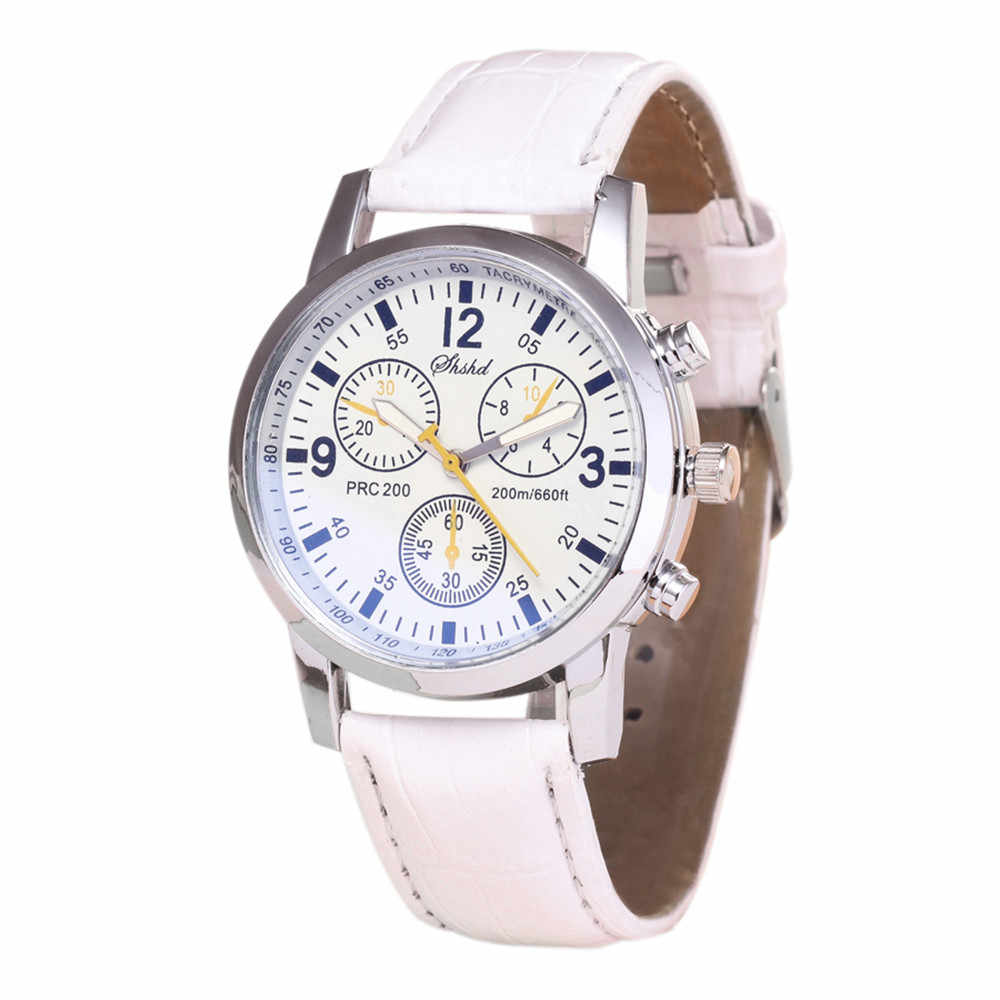 Orologi delle Donne degli uomini Blu-ray di vetro al quarzo neutro Orologio Da Polso мужк reloj hombre montre homme erkek saat zegarek meski reloj