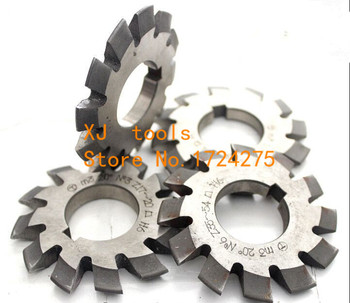 M2.0 modulus  M2.25 modulus  M2.75 modulus Pressure Angle of 20 degrees HSS gear Milling cutter 1-8# 8pcs/let Free shipping