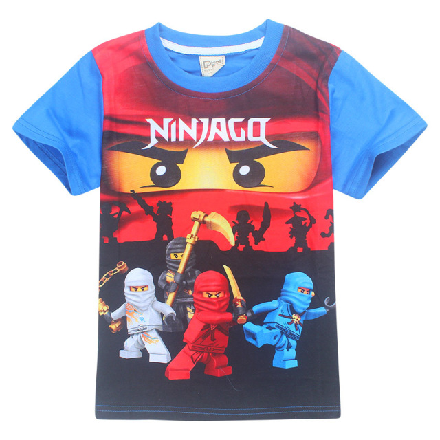 summer kids boys t shirt ninja ninjago t shirts children clothing cotton top tees girls - Vetement Ninjago