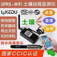 GPRS Wi Fi измеритель влажности почвы Температура воды, свет, Беспроводной гидроизоляции и защиты от коррозии зонд Remote Monitor