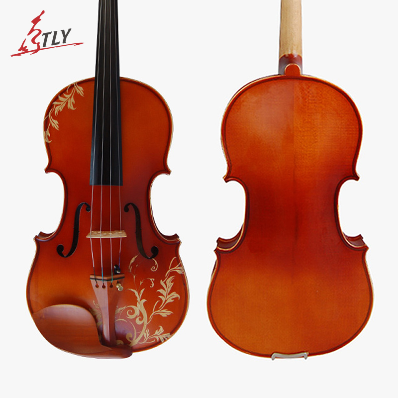 Kinglos Maple Wood Matt Acoustic Violin 4/4 Full Size Hand-carved Flowers Art Violin new professional violin use 4 4 full size adjustable maple wood violin shoulder rest support for violin parts