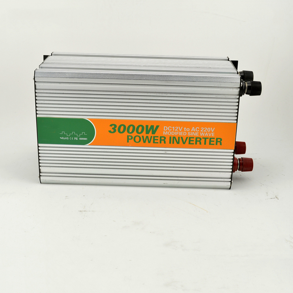 цена на 3000w dc 12v to ac 220v modified LED sine wave inverter motorhome power inverter home M3000-122G UPS China LED