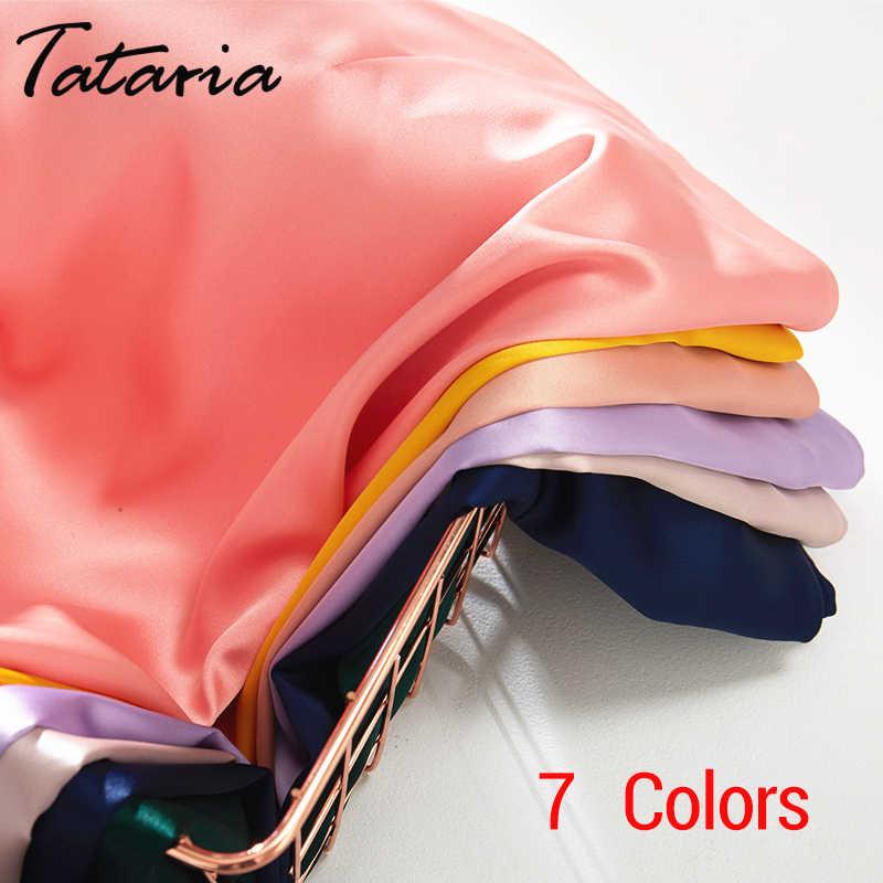 Tatariaハイウエスト女性のスカート 2020 女性aラインエレガントなスカートの女性の女性のミディスカート新韓国スタイル