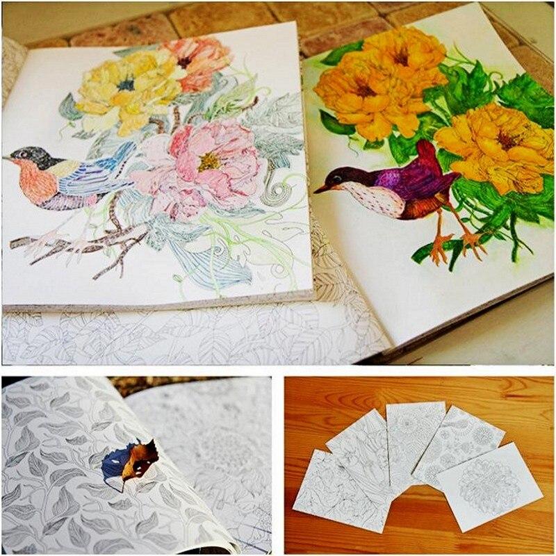 Moda coreana naturaleza libro para colorear para niños adulto ...
