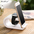 RAXFLY U-shaped Smart Watch + Mobile Phone Stand Holder For iPhone 7 6 6s 5 Charging Desktop Bracket For Huawei Mate 9 Kickstand