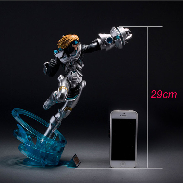 LOL League of Legends Figure Action Game Future Soldiers Izearil Big EZ Character Model Toy action-figure 3D Game Creative Gift  5